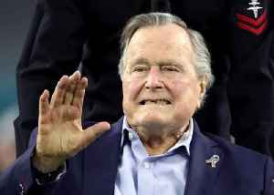 News video: George H.W. Bush Hospitalized After Wife's Funeral