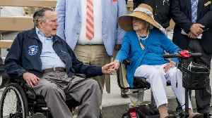 News video: George H. W. Bush Hospitalized Less Than 24 Hours After Laying His Beloved Barbara to Rest