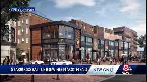 News video: Starbucks battle brewing in Boston's North End