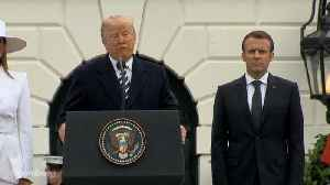 News video: Trump Welcomes Macron for First State Visit