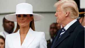 News video: Melania Trump Turned Heads In A White Chapeau