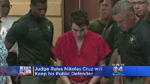 News video: Confessed Parkland Shooter Will Stay With Public Defender