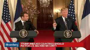 News video: Trump Says Iran Will Pay a Price If U.S. Is Threatened