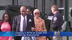 News video: Cosby's Wife In Court For Closing Arguments