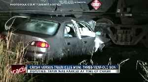 News video: Mother and 3-year-old son killed in car crash with parked train in Polk County
