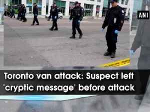 News video: Toronto van attack: Suspect left 'cryptic message' before attack
