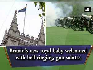 News video: Britain's new royal baby welcomed with bell ringing, gun salutes