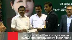 News video: Felicitated By The State, Sharath Kamal Looks Forward To The Future