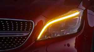 News video: 2015 Mercedes-Benz - CLS New Technology Multibeam LED Review
