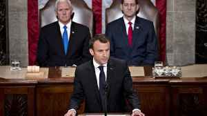 News video: French President Macron urges U.S. not to withdraw from Iran deal