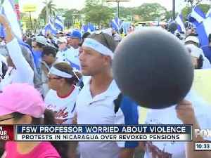 News video: Florida SouthWestern State College professor is concerned about violence in the country of Nicaragua