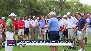 News video: Oxbridge Golf hosts annual fundraising event, featuring Jack Nicklaus and Gary Player