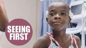 News video: Little girl seeing the world for the first time in three years after cataract surgery