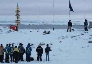 News video: Anzac Day Commemorated at Antarctic Research Base