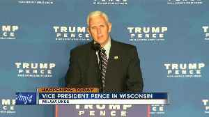 News video: Pence to join with Walker, Foxconn executive at public forum in Milwaukee
