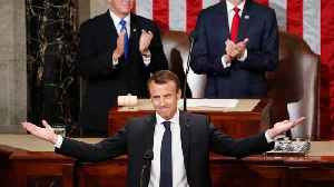 News video: France's Macron Calls On U.S. to Reject Nationalism