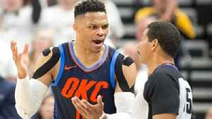 News video: Colin Cowherd questions why Russell Westbrook can't be more mature like Donovan Mitchell