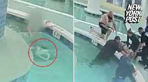 News video: Hotel guests save boy trapped underwater for 9 minutes