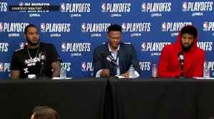 News video: Carmelo Anthony, Russell Westbrook and Paul George Reacts after Game 4 Loss to Jazz