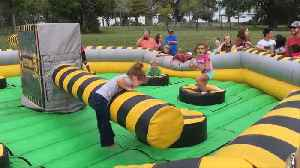 News video: Girl's Epic WIPEOUT CHALLENGE Fail
