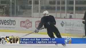 News video: Penguins To Be Without Malkin, Hagelin For Game 1 Vs. Capitals