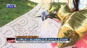 News video: Students honor high school senior killed in crash outside school in St. Pete