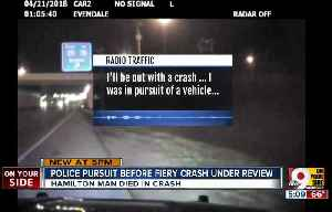 News video: Police pursuit before fiery crash under review