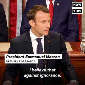 News video: Emmanuel Macron Delivers a Fiery Speech Decrying Trumpism and Republicanism