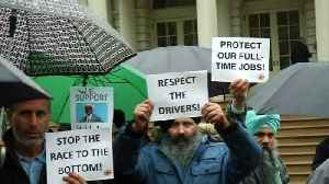 New York cabbies rally against ridesharing apps [Video]
