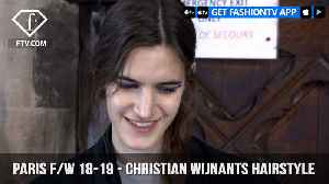 News video: Christian Wijnants Hairstyle Paris Fashion Week Fall/Winter 18-19 | FashionTV | FTV