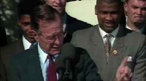 News video: From The Vault: George Bush welcomes 1990 world champion Reds to White House