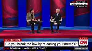 News video: James Comey Denies Being A Leaker