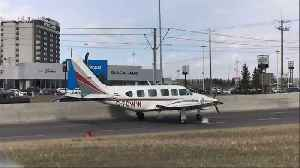 News video: Small Plane Makes Emergency Landing on Calgary Road