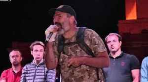 News video: Armenian Opposition Leader Addresses Cheering Yerevan Crowd