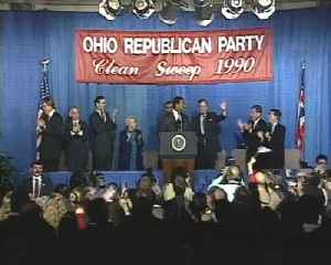 News video: From The Vault: President Bush speaks at Republican rally in CIncinnati in 1990