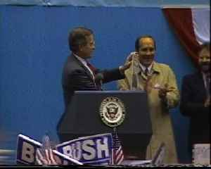 News video: From The Vault: George Bush draws 10,000 supporters to Fountain Square in 1988