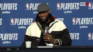 News video: LeBron James on key block: 'Of course I didn't think it was a goaltend'