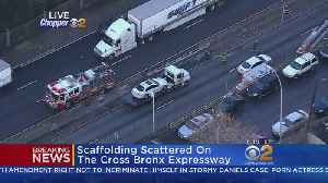 News video: Scaffolding Scattered On The Cross Bronx Expressway