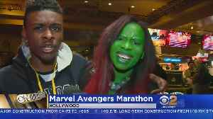 Marvel Fans Prepare For 'Infinity War' With Movie Marathon