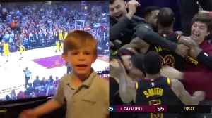 News video: WATCH: Lebron James' Games Winning Shot PREDICTED By Toddler. Real or Fake?!