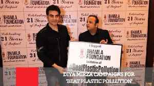 News video: Diya Mirza Campaigns For 'Beat Plastic Pollution'
