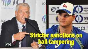 News video: ICC to move towards stricter sanctions on ball tampering, on field behaviour
