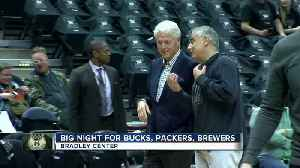 News video: Former President Bill Clinton, among others, spotted at Bucks Game