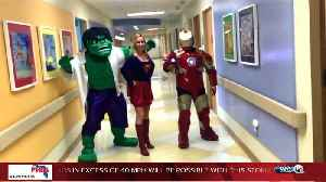 News video: Superhero Day at Palm Beach Children's Hospital; Supergirl, Ironman, and Hulk join forces