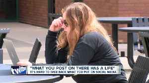 News video: Beware what you post online