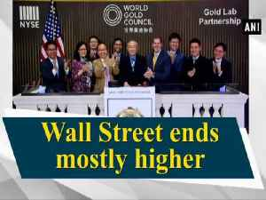 Wall Street ends mostly higher