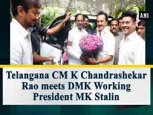 News video: Telangana CM K Chandrashekar Rao meets DMK Working President MK Stalin