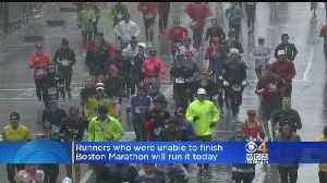 News video: Runners To Complete Boston Marathon Course On Sunday