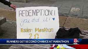 News video: Runners get second chance at completing marathon