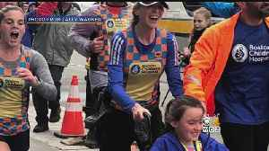 News video: Runners Who Did Not Finish Boston Marathon Return To Finish What They Started